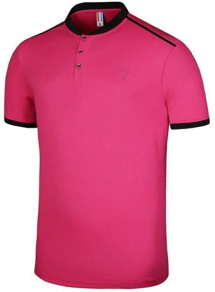 Pink Round Neck Polo For Men