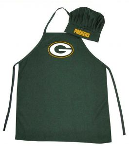 5f296b09e Wirezoll NFL Green Bay Packers Chef Hat and Apron Set