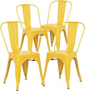 Prime Poly And Bark Trattoria Side Chair In Yellow Set Of 4 Bralicious Painted Fabric Chair Ideas Braliciousco