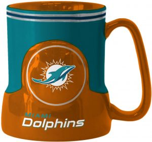 ded4bd49d6a NFL Miami Dolphins Sculpted Game Time Mug