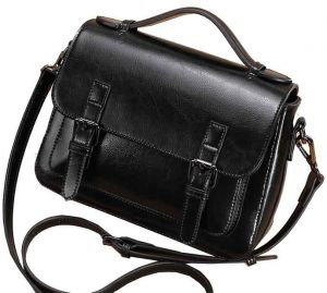 Large Capacity Crossbody Shoulder Fashion Women Lady Leather Messenger Bag  Satchel Handbag -Black 3f74d2779f91d