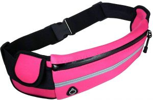 2a3c261b32fb Sport Running Belt Waist Pack Water Resistant Runners Belt Fanny Pack for  Hiking Fitness Adjustable Running Pouch for All Kinds of Phones Pink