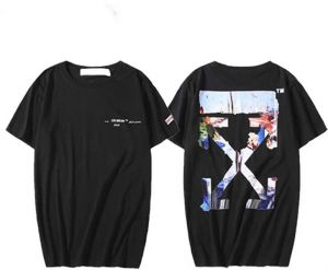 90ecde0d3fe5 Off-White Oil Painting T-Shirt Unisex Hip hop Black Tee For Men and Women