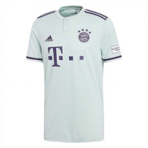 adidas Weft knitted FC Bayern Away Jersey for Men - Ash Green/Trace Purple S18
