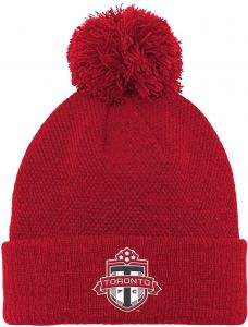 huge selection of 58db6 14d0c Outerstuff MLS Toronto FC Boys Cuffed Knit Hat with Pom, Red, One Size (8)