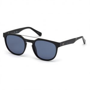 4072a3d2ee Guess Oval Sunglasses for Men - Blue Lens