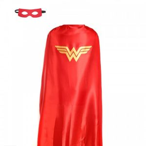 8f8dcffd68b Unisex large adults double sided Wonder Woman 137x89cm comic superhero  costume with mask and cape
