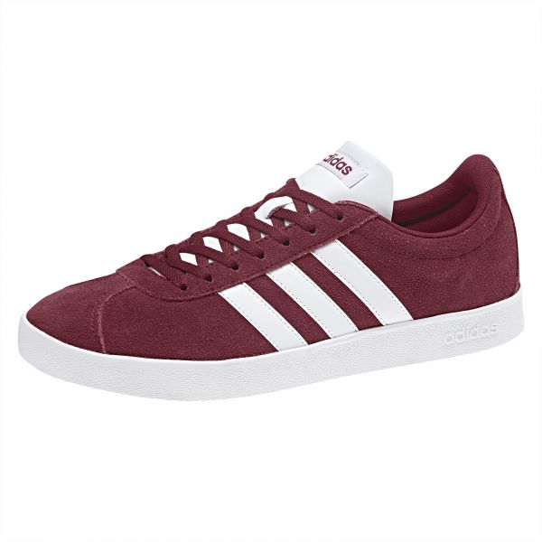 adidas VL Court 2.0 Shoes for Men , Red Size , 44 EU