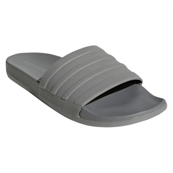 ec08ae3cdcdd adidas adilette Cloudfoam Plus Mono Slides for Men - Grey. by adidas