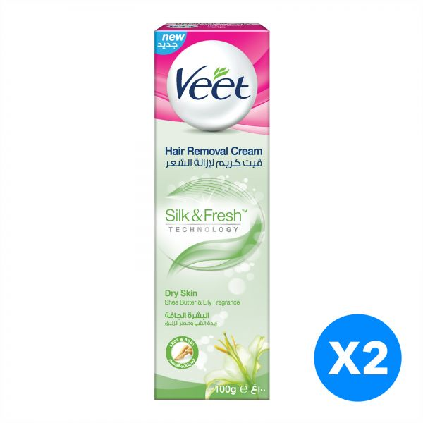 Veet Hair Removal Cream Dry Skin 100g Twin Pack At 20 Off Price