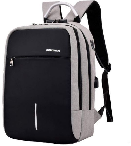 f12f3f2b4145 GEry Anti Theft Travel Laptop Backpack