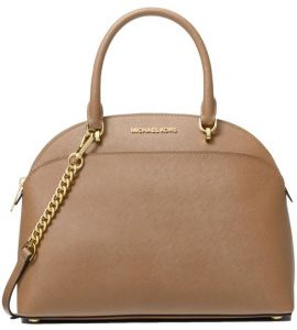 a88227541950 MICHAEL MICHAEL KORS Emmy Large Saffiano Leather Dome Satchel - Saddle