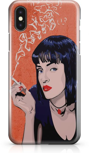 Loud UniverSE Pulp Fiction Retro Style iPhone X CaSE Mia Wallace Art iPhone  X Cover with 3d Wrap around Edges