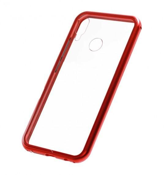 Magnetic Case for Huawei Honor 8X Case Metal Tempered Glass