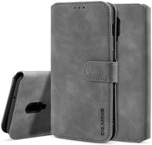 OnePlus 6T Wallet Case Vintage PU Leather Flip Cover Enhanced Edge Protection & TPU Internal Shell Kickstand Magnetic Closure Cash Card Holder Case for ...