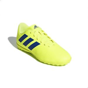 1de806e8bd3 Adidas Chimpunes Nemeziz Tango 18.4 Artificial Grass Football Shoes For  Kids - Solar Yellow