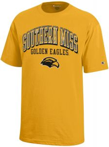 1274aa80777 Champion NCAA Southern Mississippi Golden Eagles Youth Boys Short Sleeve  Jersey T-Shirt