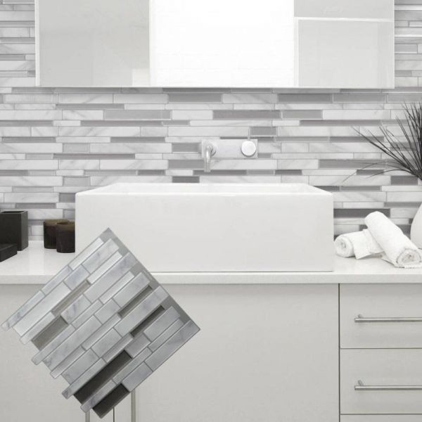 Marble Mosaic L Wall Sticker Tile