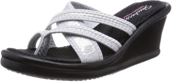 213f60f61159 Skechers Cali Women s Rumblers-Young at Heart Wedge Sandal