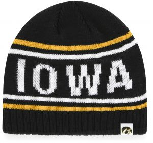 finest selection 10733 910a3 OTS NCAA Iowa Hawkeyes Adult NCAA Thorsby Beanie Knit Cap, One Size, Black