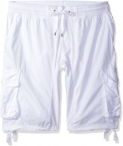 a67f7ece9f Southpole Men's Big and Tall Jogger Shorts with Cargo Pockets in Solid and  Camo Colors, White(New), 5X-Large
