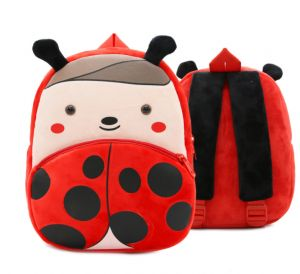 a45a542e15 3D Cute baby plush backpack cartoon Animal children s mini school bag for  kindergarten girl boys student schoolbag Toys Gifts-Coccinella  septempunctata