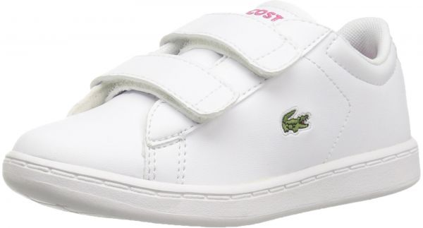 486f3a2fcc Lacoste Baby Boys' Carnaby Evo Bl 1 4. M US Toddler White/Pink