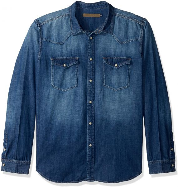 f33d48c0ae VIGOSS Men s Woven Denim Shirt