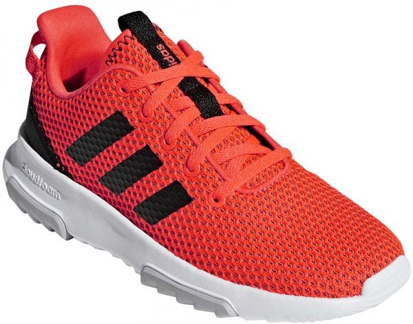 san francisco 424f2 17893 adidas CF Racer TR K Running Shoes for Kids - Solar Red Core Black ...