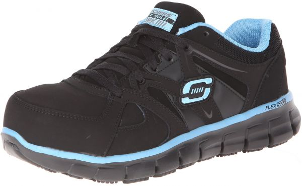 watch 708b8 1ab40 Skechers for Work Women s Synergy-sandlot Work Boot,Black Blue,10 M US    Souq - UAE