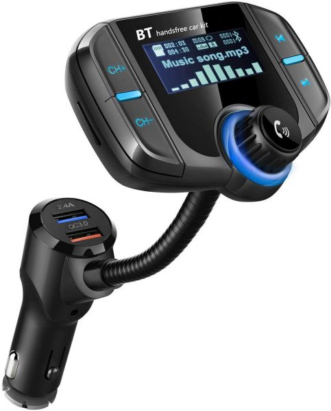 BT Wireless FM Transmitter W//Display USB Charger for iPhone iPod Android