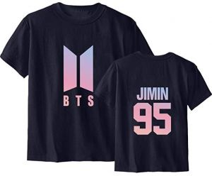 d79ea3e6a Men's And Women's Short-sleeved Tops Tshirt Love Yourself Tear Suga Jung  Kook Tee Casual sweatshirt letter t-shirt ,Black,Size:3XL