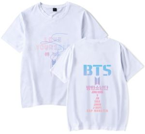 7d81e65bad5 BTS Loose Adult Short-sleeved T-shirt White XS