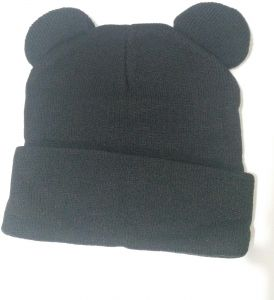 5a3c1b6ae64cfe Black mouse animal Beanie   Bobble Hat For Unisex kids or adults