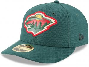 buy online 3a6b1 79ac4 New Era NHL Minnesota Wild Adult Bevel Team Low Profile 59FIFTY Fitted Cap,  7.625, Green