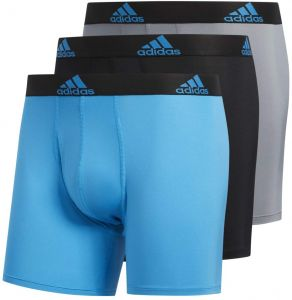 124df783fc13 adidas Men's Sport Performance Climalite Boxer Briefs (3 Pack), Solar  Blue/Black Black/Solar Blue Grey/Solar Blue, Large