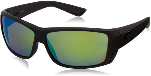 19b5c59d58579 Costa Del Mar Cat Cay Sunglasses Blackout Green Mirror 580Plastic