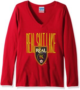 58a6eef83 Junk Food MLS Real Salt Lake Women's Major League Soccer Long Sleeve Tee,  Small, New Red