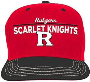 best service 593de 081ea NCAA Rutgers Scarlet Knights Youth Boys Retro Bar Script Flatbrim Snapback  Hat, Red, Youth One Size