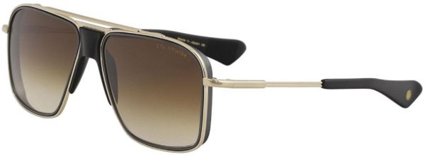 dae5f16334b6f Dita Initiator DTS116-58 GLD BLK Brown Lens and Gold Black Iron Matte Frame  Sunglasses Unisex