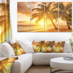 iCanvasART 3 Piece San Francisco City Skyline at Sunrise Viewed from Treasure Island Side USA Canvas Print by Panoramic Images California San Francisco Bay 48 x 16//1.5 Depth