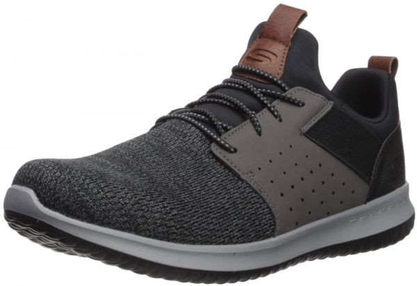 Dar una vuelta competencia boicotear  Skechers Men's Classic Fit-Delson-Camden Sneaker,Black/Grey,9 M US : Buy  Online at Best Price in Egypt | Souq.com