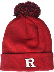 f8a56a06 Zephyr NCAA Rutgers Scarlet Knights Adult Men Pom Knit Beanie, Adjustable,  Team Color