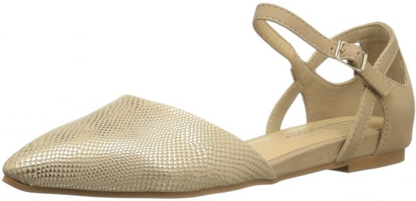 c0791b8b32 CL by Chinese Laundry Women's Helena Pointed Toe Flat, Gold Snake, 7.5 M US  | Souq - UAE
