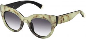 3d01fe1dd81e8 Max Mara Cat Eye Gradient-Grey Lens Floral Pattern Sunglasses for Women -  Beige