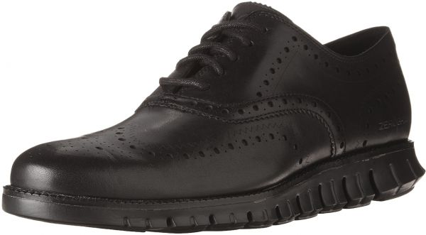 c9d3081ea7fb45 Cole Haan Men s Zerogrand Wingtip Oxford 10 Black-Black