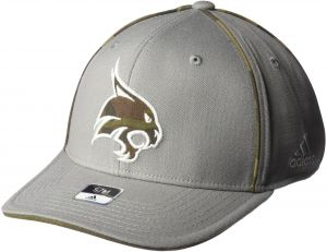 super popular b0c26 a6be9 adidas NCAA Texas State Bobcats Men s Hint of Camo Flex Fit Cap,  Large X-Large, Grey