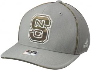 huge discount 31fc5 89bfe adidas NCAA North Carolina State Wolfpack Men s Hint of Camo Flex Fit Cap,  Large X-Large, Grey