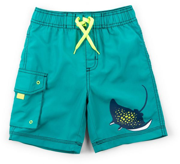 0e74443909ab7 Hatley Little Boys' Board Shorts, Friendly Manta Rays, 5 Years | KSA | Souq