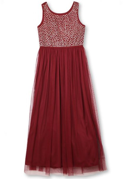 Speechless Girls 7-16 Tween Maxi Dress with Wide Ribbon Hem for Formal Dance Or Party